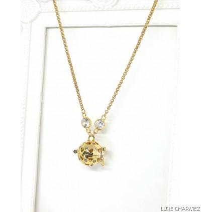 Golden Love Spell Diffuser Necklace