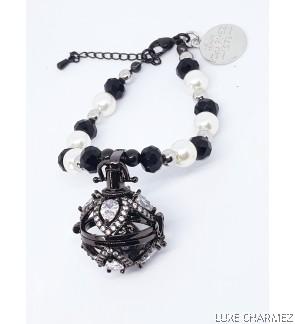 Black Gatsby Diffuser Bracelet