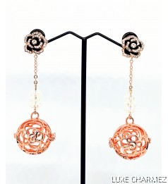 Sparkly Camelia Diffuser Earrings