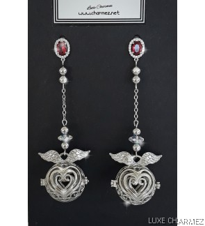 Angel of Love Diffuser Earrings | Ruby