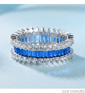 Trinity Ring | Sapphire Blue(Pre- Order)