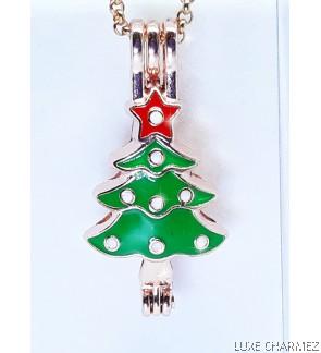 Shiny Tree Diffuser Necklace