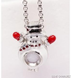Snowman Diffuser Necklace