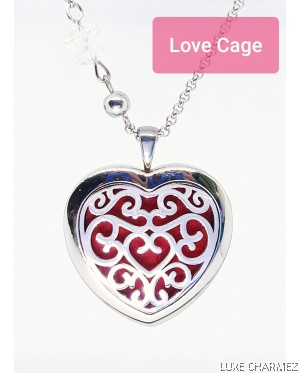 Hestia Love Diffuser Necklace | Stainless Steel Cage